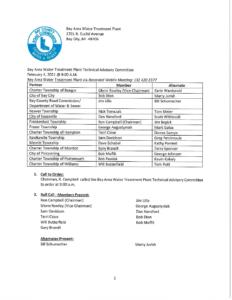 February 2021 TAC Minutes